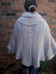 An Accidental Poncho - free crochet pattern by Cricket 75. Adult sized with cowl neck/hood and cuffs. Quick to work in chunky yarn with 9mm hook. Substitute the dc(U.K.tr) with any stitch you like.