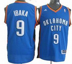 Oklahoma City Thunder  9 Serge Ibaka Revolution 30 Swingman Blue Jersey  Serge Ibaka 81f00a756