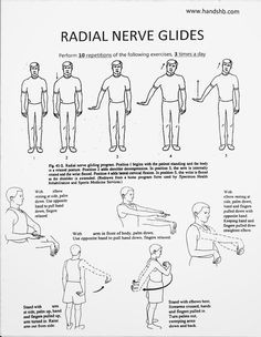 HB Hands: Radial Nerve Glides/ good site with a lot of hand therapy info with pt handouts