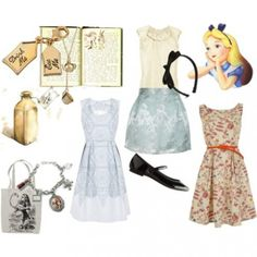 Alice in Wonderland Disney Outfits love these!