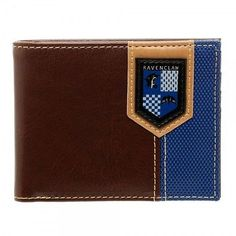 This item up for sale is the Harry Potter Ravenclaw Crest bi-fold wallet. This wallet is perfect for anyone of any age who just loves Harry Potter. Wallet is very well made with mix of faux leather an