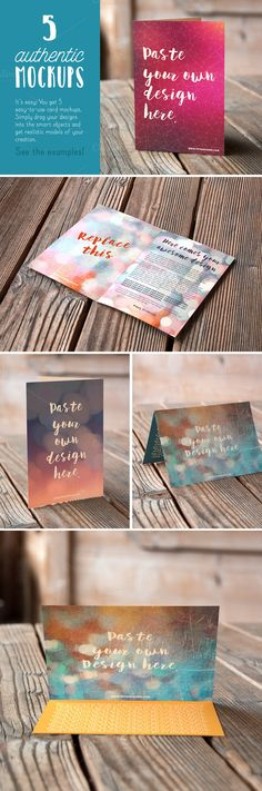 Authentic Card Mockups Vol. 01 - Product Mockups - 1