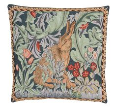 Tapestry Cushion Covers - Rabbit Cushion Cover by William Morris – Oxeme Home