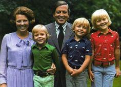 Koningin Beatrix, prins Constantijn, prins Claus, prins Johan Friso en prins Willem-Alexander