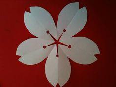 切り紙 桜の花 blossoms Flower