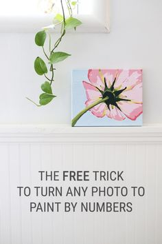 The Free Trick for How to Turn a Photo into Paint by Numbers Wall Art Tutorial - Convert your favorite photos into a printable paint-by-numbers template without any special skills or software. This makes a perfect gift or craft night idea to create some beautiful home decor! Crafts can totally be affordable and easy -- even for a beginner!