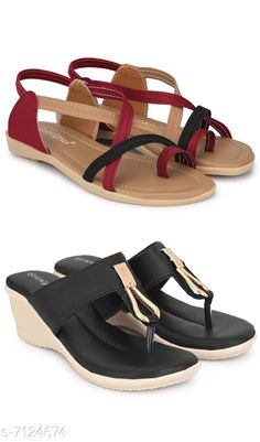 Heels & Sandals Women Sandal Combo Pack Material: Synthetic Sole Material: TPR Pattern: Solid Multipack: 2 Sizes:  IND-7 IND-6 IND-8 IND-5 Country of Origin: India Sizes Available: IND-8, IND-5, IND-6, IND-7   Catalog Rating: ★4.2 (3102)  Catalog Name: Women Sandal Combo Pack CatalogID_1137367 C75-SC1062 Code: 944-7124674-999