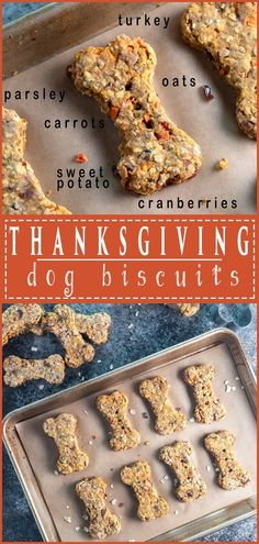 Thanksgiving Dog Biscuits- Give your furry friend the Thanksgiving treat they& dreamed of . These Thanksgiving Dog Biscuits are the BEST! Dog Biscuit Recipes, Dog Treat Recipes, Healthy Dog Treats, Dog Food Recipes, Doggie Treats, Kfc Biscuit, Cookie Recipes, Dog Training Methods, Basic Dog Training