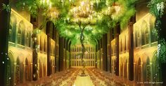 Trudy's Heaven Main Hall Lupius Library by zese.deviantart.com on @deviantART