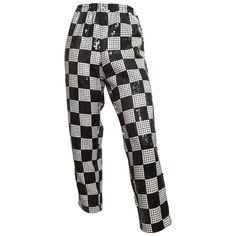 Comme des Garçons 1990s Black & White Sequin Pants Size 4.  @1stdibs #CommedesGarcons #pants #vintage #fashion #forsale