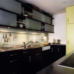 black black black- all this needs is an acid green kitchen door and I'm in heaven!
