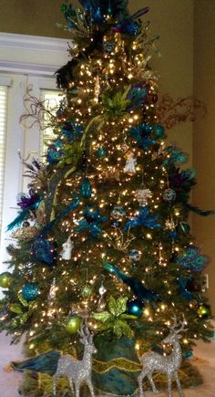 peacock christmas tree peacock christmas decorations peacock christmas tree beautiful christmas trees blue