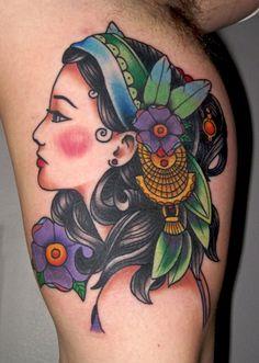 gypsy kings tattoos | gypsygirlhead Tattoo Picture | Last Sparrow Tattoo