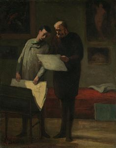 Advice To A Young Artist by Honore Daumier