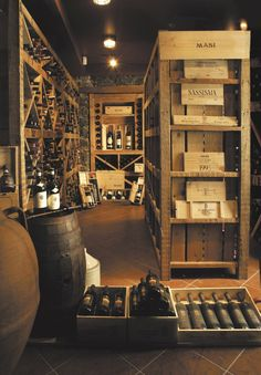 Gorgeous vintage-style traditional wine cellar {wine glass writer}