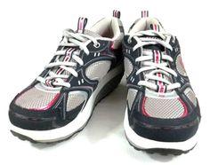 Skecher SHAPE UPS Gray Pink Rhinestones Womens Size 8.5 Fitness Walking Shoes