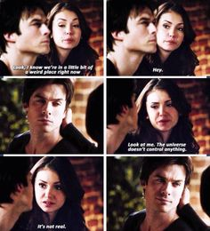 Loved this moment especially the looks they give each at the end Delena all the way <3 <3
