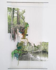 Embroidered landscape by Ana Teresa Barboza | http://inagblog.com/2016/06/next-artists-guide-5/ | #art #installation #embroidery