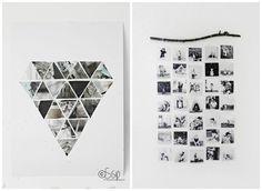 Ideas para decorar con fotos.En fotosun disponemos de todo tipo de formatos creamos montajes a tu medida #fotosunvigo tu tienda de #fotostos.