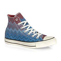 Converse  - Converse Chuck Taylor Ox x Missoni  Hi Shoes - Ocean/Casino