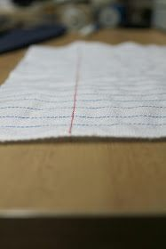 The 'Ol Stitcharoo: Notebook paper fabric tutorial  love this :)