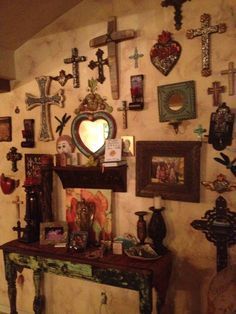 Rustic Cross Display Walls Need A Good Mix Of Small And