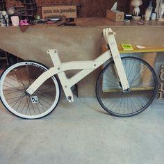 #openbike · fab_a_bike - arquimaña Primer prototipo en madera #openbike #diy #diseñoabierto #wood #bike #design #arquimaña