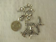 12 piece Western Boot and Hat Charms by AGothShop on Etsy, $2.50