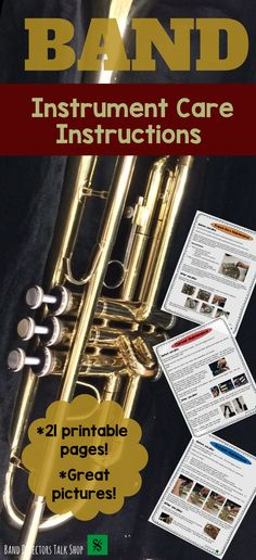 Click below for a comprehensive band instrument care and maintenance instructions pack!  $16 https://www.teacherspayteachers.com/Product/Band-Instrument-Care-Instructions-Pack-3244816