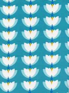 "Cloud9 FabricsLotus Pond – Lotus Drop Turquoise44-45"" wide100% certified organic cotton printed with low impact dyes"
