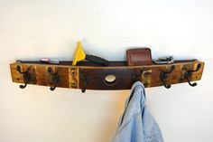 Wine Barrel Coat Rack with shelf made by winecountrycraftsman, $85.00