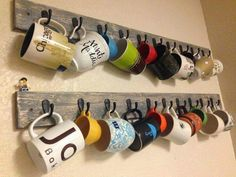 DIY mug shelf