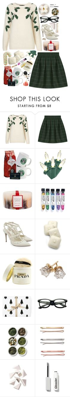 """""""Untitled #406"""" by m4k4y14 on Polyvore featuring Topshop, John Lewis, Valentino, Gianna Rose Atelier, Prada, Hershey's, Tea Collection, Madewell, Bobbi Brown Cosmetics and Paddywax"""