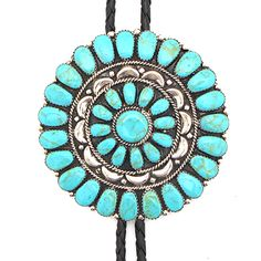 Turquoise Circle of Life Bolo at Maverick Western Wear