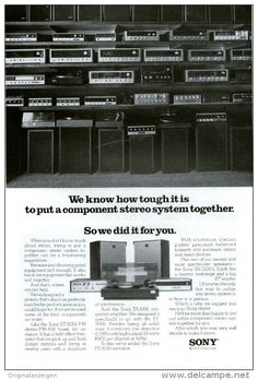 Original - Anzeige / Advertise 1974 : (ENGLISH) 1/1 PAGE- SONY HIFI - 170 x 250 mm
