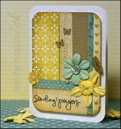 Love the layout of tihs card... quilted looking. NICE. :)
