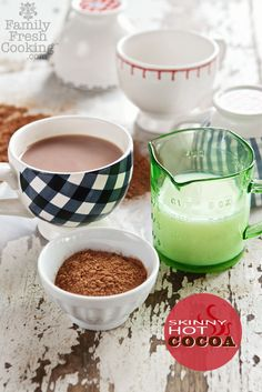 Skinny Hot Cocoa with just 4 ingredients (and no sugar!) For extra richness, use all unsweetened almond milk (or other milk of choice).