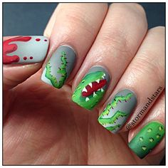 little shop of horrors by stormandstars  #nail #nails #nailart