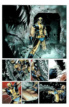 X-Men 8, Wolverine Fight color by Gabriel Cassata, Pencils by Chris Bachalo Inks by Tim Townsend