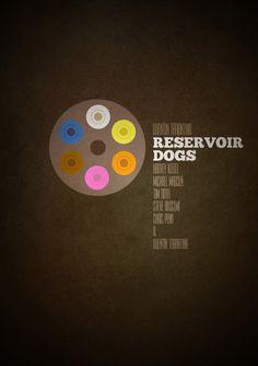 Minimalist Movie Poster: Reservoir Dogs by Sam Markiewicz