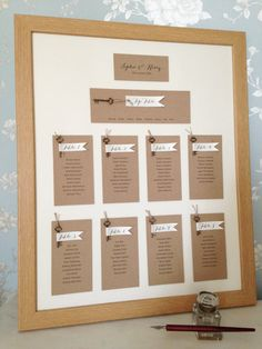 Unframed Table Plan Wedding Seating Diy Rustic Individual Tables Lists Pinterest