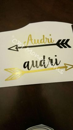 A personal favorite from my Etsy shop https://www.etsy.com/listing/251223118/arrow-decal-with-name-or-monogram