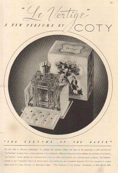 Le Vertige Coty 1937.