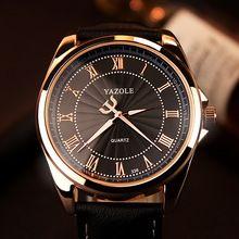 YAZOLE Quartz Watch Men Top Brand Luxury Famous 2016 Wristwatch Male Clock Wrist Watch Business Quartz-watch Relogio Masculino(China (Mainland))