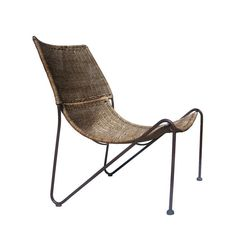 Hendrick Van Keppel and Taylor Green Wicker Chair | From a unique collection of antique and modern slipper chairs at https://www.1stdibs.com/furniture/seating/slipper-chairs/