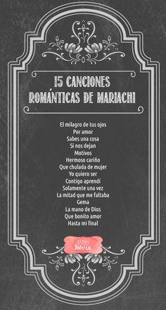15 Canciones Románticas de Mariachi | El Blog de una Novia Wedding 2017, Wedding Music, Wedding Tips, Destination Wedding, Wedding Planning, Dream Wedding, Wedding Day, Summer Wedding, Trendy Wedding