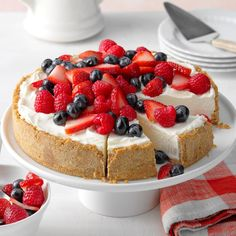I've made many cheesecakes and enjoy them all, but they're usually time-consuming. When I first tried this recipe, my husband said it was better than the baked ones, and that was a big plus for me! —Joyce Mummau, Baltimore, Maryland
