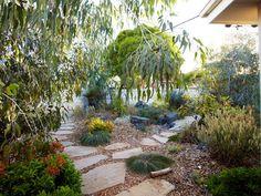 Phillip Johnson Landscapes in Ashburton, Victoria Path ideas Pool Garden, Bush Garden, Garden Paths, Garden Structures, Australian Garden Design, Australian Native Garden, Natural Garden, Back Gardens, Courtyard Gardens