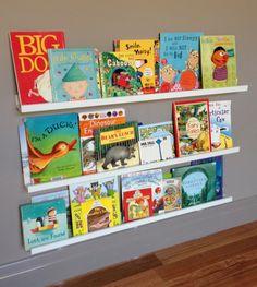 4381ebca493 Ikea frame shelves as kids book shelf. I think it looks great and kids love