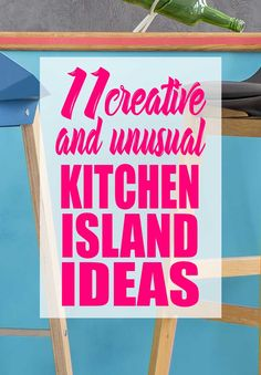 11 Creative DIY Island Ideas for Your Kitchen! These are beautiful kitchen island ideas that didn